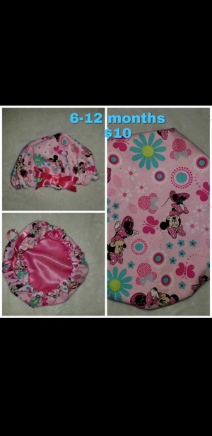 Baby/toddler satin lined hair bonnets for Sale in NC, US