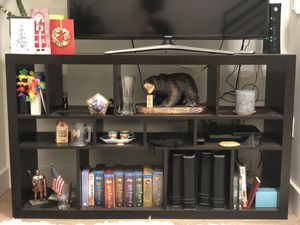 Espresso Bookshelf/ TV stand Wood composite for Sale in San Francisco, CA