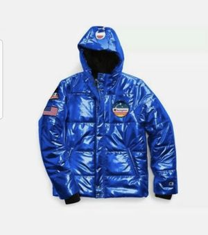 CHAMPION 1919 NASA PUFFER JACKET Color: Blue Condition: New With Tags Size: Men's Medium 100% Authentic This jacket comes from a smoke free/pet f for Sale in French Creek, WV