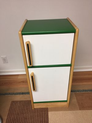Mini wooden play fridge for Sale in St. Louis, MO