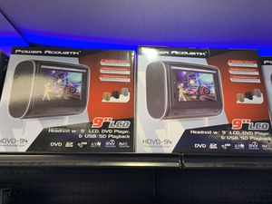 HEAD REST TV SCREENS BLUETOOTH DVD CD CARPLAY ALL SIZES for Sale in Grand Prairie, TX