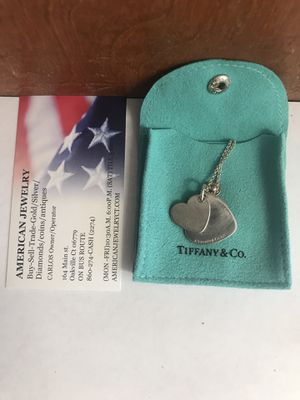 """Authentic Tiffany & Co. Sterling Double Heart 18"""" Necklace for Sale in Watertown, CT"""