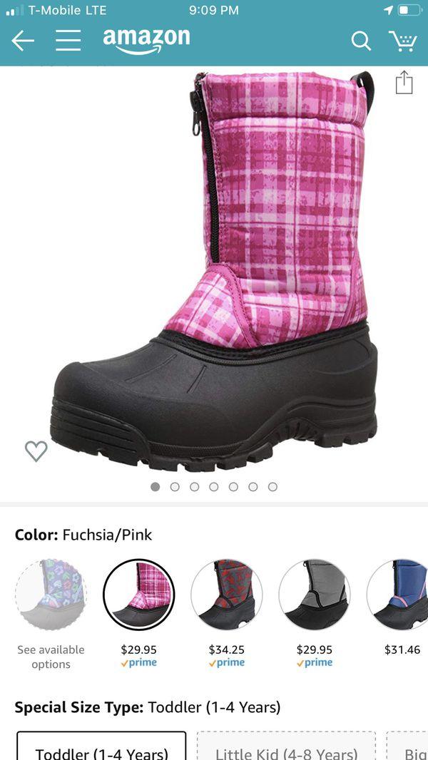 Kids snow boots size 8