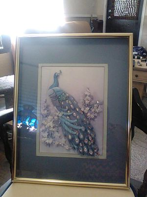 Peacock Framed Picture for Sale in Pompano Beach, FL