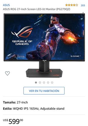 ASUS ROG 27-Inch Screen LED-lit Monitor (PG279QZ) for Sale in Miami, FL