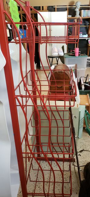 Red Metal Shelving Rack for Sale in Houston, TX