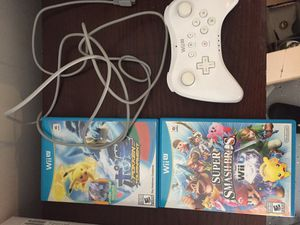 Nintendo wii u games and controller with charging cord for Sale in Las Vegas, NV