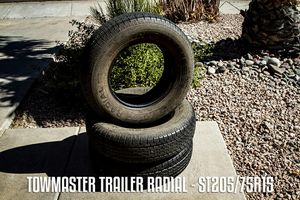 3 x Towmaster Trailer Radial Tires - ST205/75R15 for Sale in Phoenix, AZ