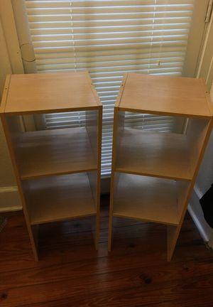 Matching shelves light wood bookshelves for Sale in Orlando, FL