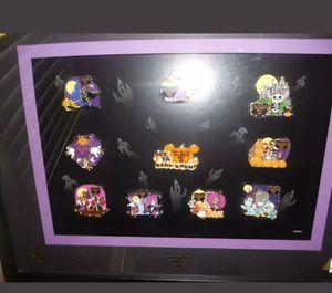 Disney Halloween party framed pin set for Sale in Davenport, FL