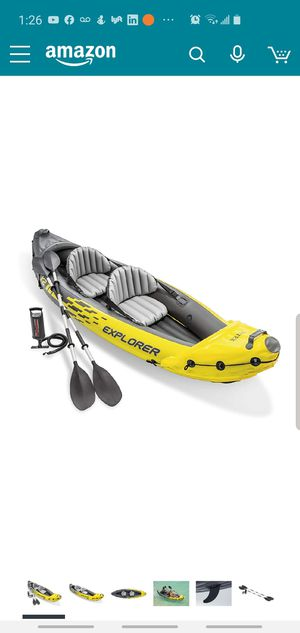 Kayak inflatable with Extra Paddles, LifeVest, Automatic Pump for Sale in Great Falls, VA