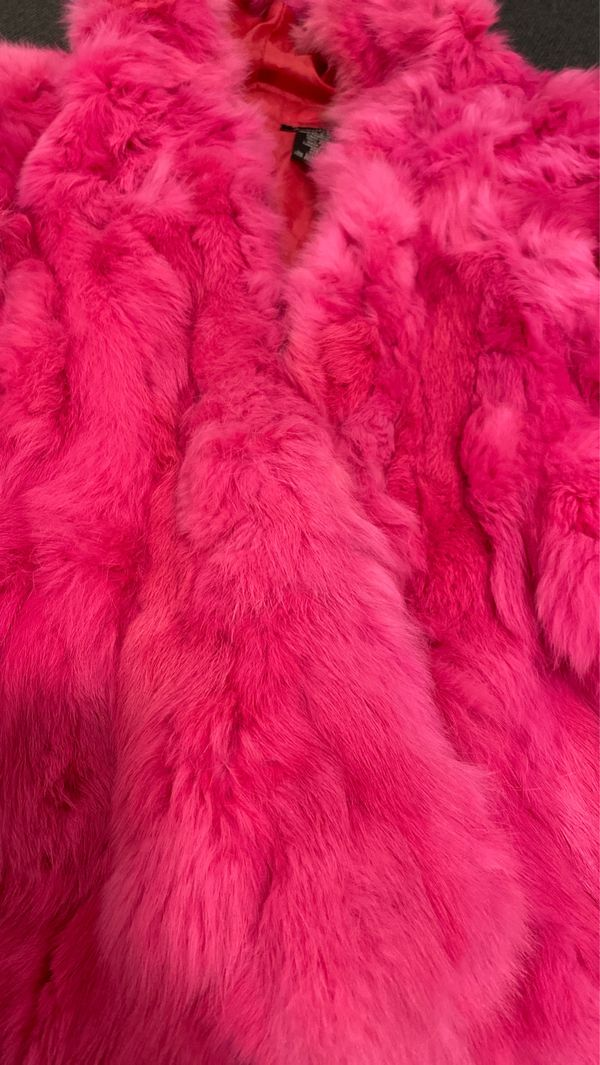 Atmosphere Pink Rabbit Fur Jacket