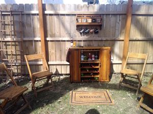 Cocktail and Wine Rolling Bar Cabinet for Sale in Royal Oak, MI