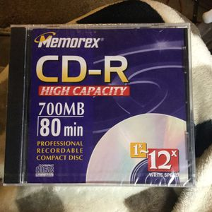 X2 Memorex CD-R High Capacity 700MB 80 Min Professional Recordable Disc UNOPENED for Sale in Fenton, MO