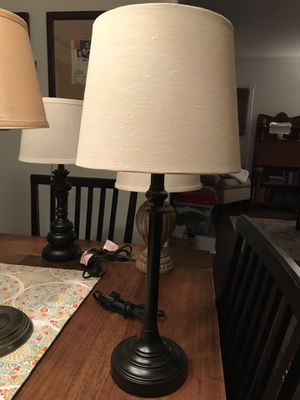 Black accent/table lamp with pull chain for Sale in Kinnelon, NJ