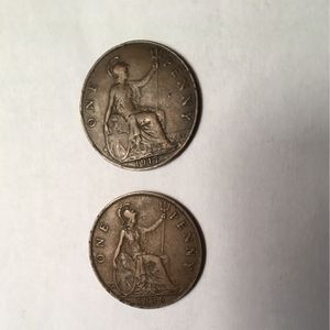RARE COINS: 1917 & 1936 King George V One Penny for Sale in Suffolk, VA
