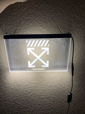 Off White Led Sign for Sale in Corona, CA