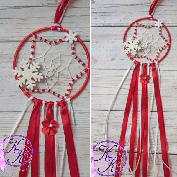 Handmade Christmas dreamcatcher