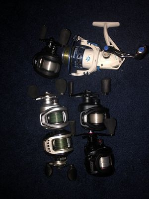 Fishing rods and reels for sale for Sale in Greenwood, IN