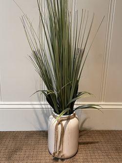 Artificial Grass Plant In Cream Ceramic Pot for Sale in Lake Oswego,  OR