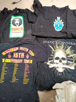 Lot of 4 original Static X concert t-shirts. for Sale for sale  Yucca Valley, CA