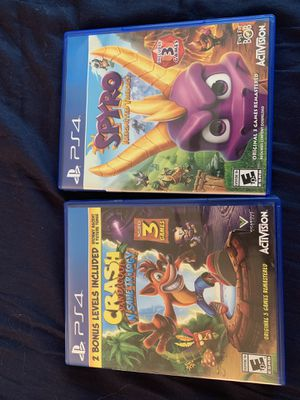 Crash and Spyro trilogies for Sale in Portland, OR