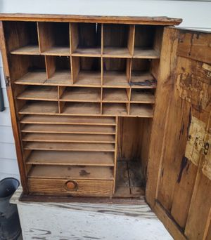 Railway Express Cabinet, 1920s for Sale in Fort Defiance, VA