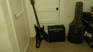 BC rich bass..line 6 spider 4 amp. Martin acoustic electric with gig bag for Sale in Sanger, CA