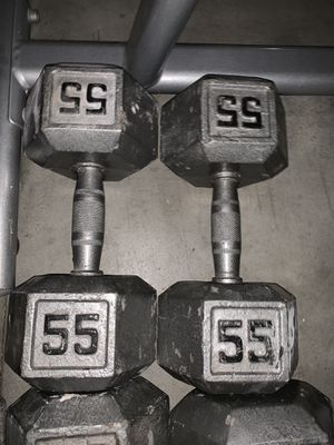 55lb dumbbells for Sale in Simi Valley, CA