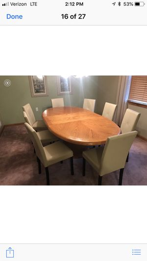 Solid oak dining table for Sale in US