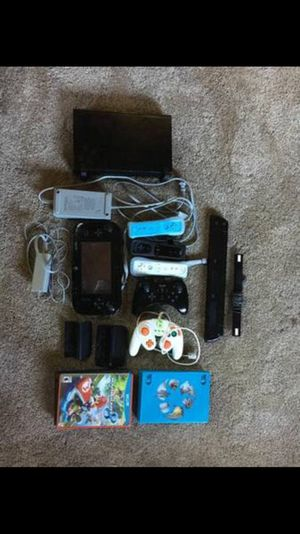 Nintendo Wii U deluxe 32GB with games and accessories WORKS! for Sale in Mesick, MI