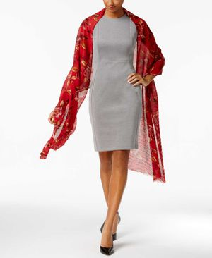 Echo Floral Pleated Wrap & Scarf (Medium Red) for Sale in Norfolk, VA