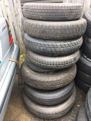 13 spare rims and tires DONUTS for Sale in Cleveland, OH