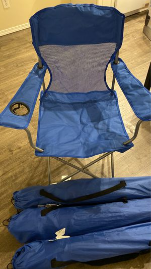 Foldable camping chairs for Sale in Tacoma, WA