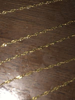 10K Real Gold Chain 25 1/2 inches long for Sale in Anaheim, CA