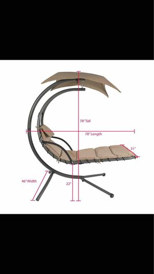 best choice products outdoor porch hanging curved chaise lounge chair swing hammock pillow chair for Sale in Chino Hills, CA