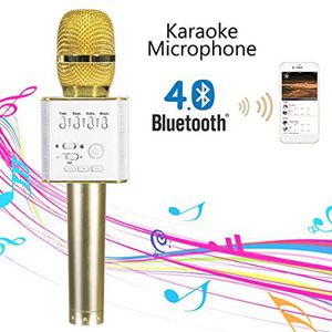 Wireless Microphone Portable Handheld Cellphone Karaoke Player Universal Bluetooth Mobile Phone Speaker Karaoke Mic for Home KTV/Outdoor Party/Singin for Sale in Kennewick, WA
