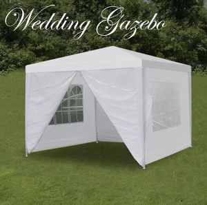 Outdoor Gazebo Tent White Wedding Party Sun Shade 10' x 10' Portable Shelter for Sale in Plano, TX