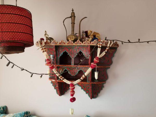 Small Moroccan shelf.