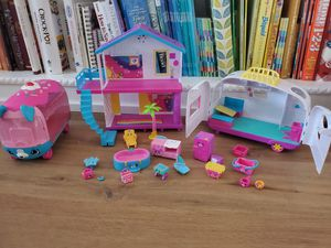 Shopkins house, camper, bus and accessories for Sale in Costa Mesa, CA