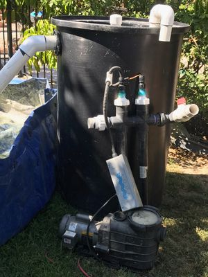 Coi fish pond, aqua 120 v pumps for Sale in Riverside, CA