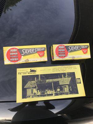 Used, 2 HO Silver Streak Deluxe Kits & HO Fine Scale Miniature Set for Sale for sale  Glen Ellyn, IL