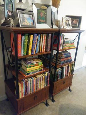 2 medium size bookshelves/storage shelves for Sale in Palm Coast, FL
