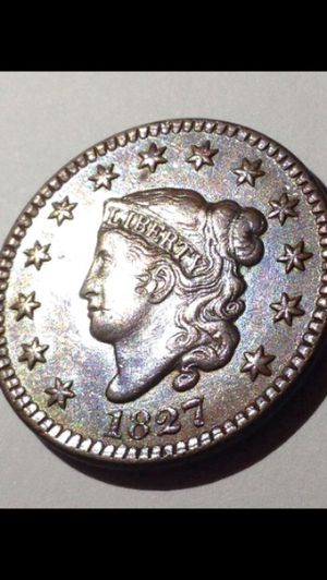 Gorgeous (Unbelievable Luster) 1827 PROOF Strike Large Cent. Full Bold Details Showing W/ Mint Luster, Rare Early Date! ON SALE, PRICE INCREASING for Sale in Fairfax, VA