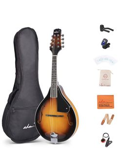😋 $85 Brand New In Box Music A Style Acoustic Mandolin Instrument With Case Wood Mandolins Beginner Kit for Sale in Everett,  MA