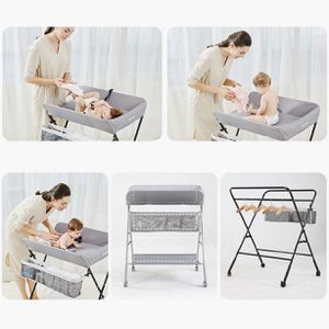 Baby Changing Table Baby Care Station Neonatal Accessory Massage Table Bathing and Changing Clothes Multi-Functional Folding with Universal Wheel Heig for Sale in Las Vegas, NV