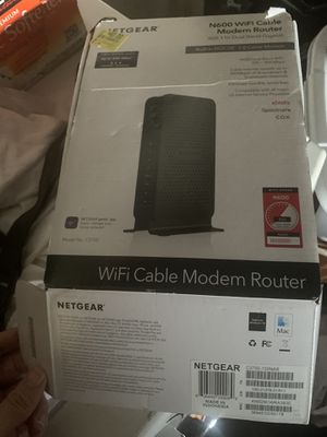 Net gear N600 WiFi cable modem router for Sale in Fontana, CA