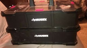 HUSKY tool box with carry case for Sale in Tacoma, WA