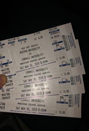 Boston Uni. Vs Cornell University Tickets Game @ Madison Sqr Garden for Sale in Boston, MA