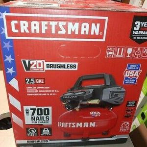 CRAFTSMAN V20 2.5-Gallon Single Stage Portable Cordless Pancake  Air Compressor for Sale in Salt Lake City, UT